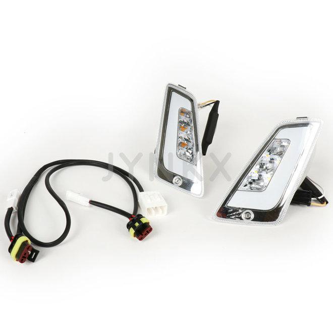 Knipperlicht set Vespa GTS Power1 audi led wit voorkant (vanaf 2014)