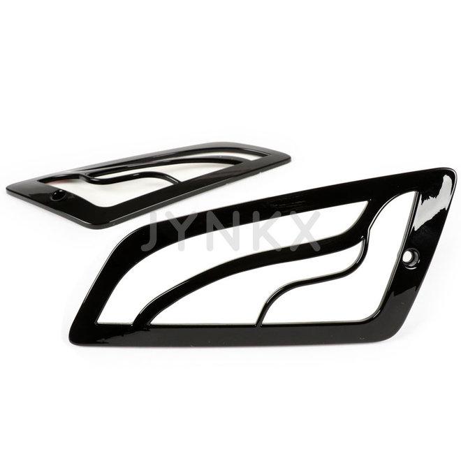 Knipperlicht rooster set Vespa GTS glans zwart voorkant