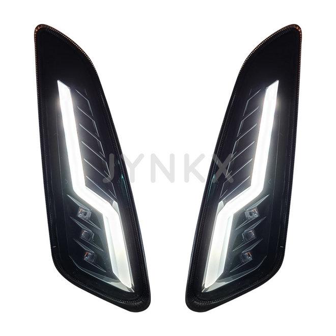 Knipperlicht set Vespa Primavera / Sprint level10 bliksem knipperend voorkant