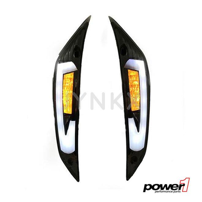Knipperlicht set Power1 Piaggio Zip LED tube voorkant matrix
