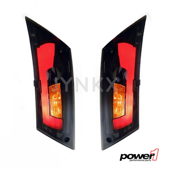 Knipperlicht set Piaggio Zip LED tube (Audi Look smoke) achter matrix