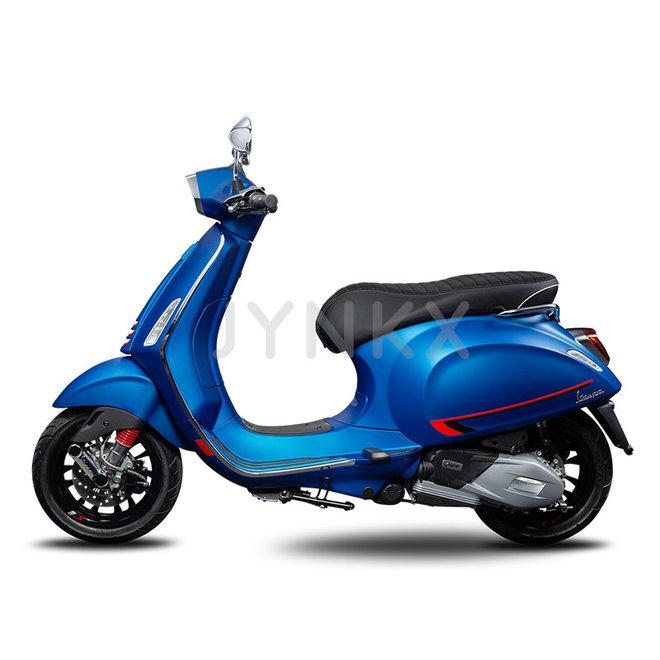 Beenschild deksel Vespa Sprint Sport 297/A blue vivace mat blauw