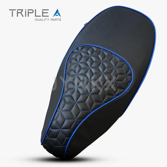 Custom buddydek Hexagon blauw Vespa Primavera / Sprint - Triple A