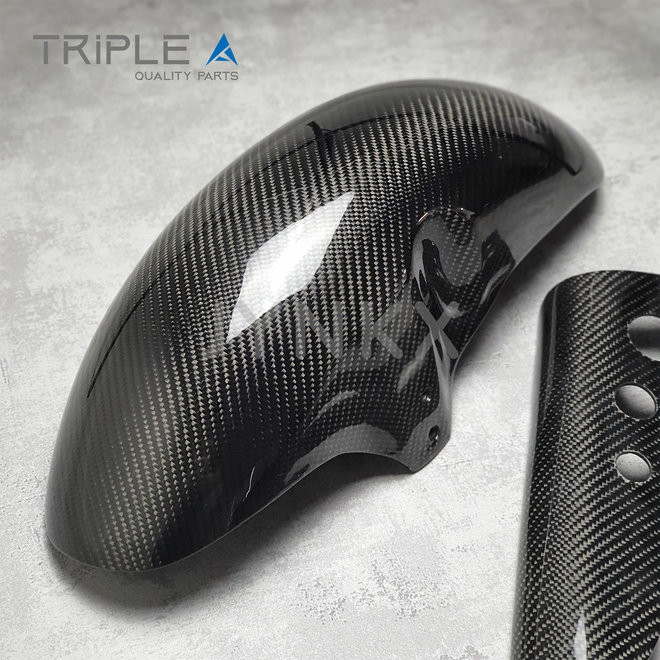 Carbon fiber voorspatbord indo style - Triple A