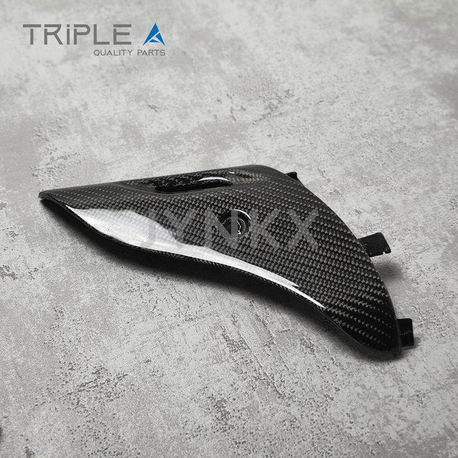Carbon fiber beschermkap schokbreker model 1 Vespa Primavera / Sprint - Triple A