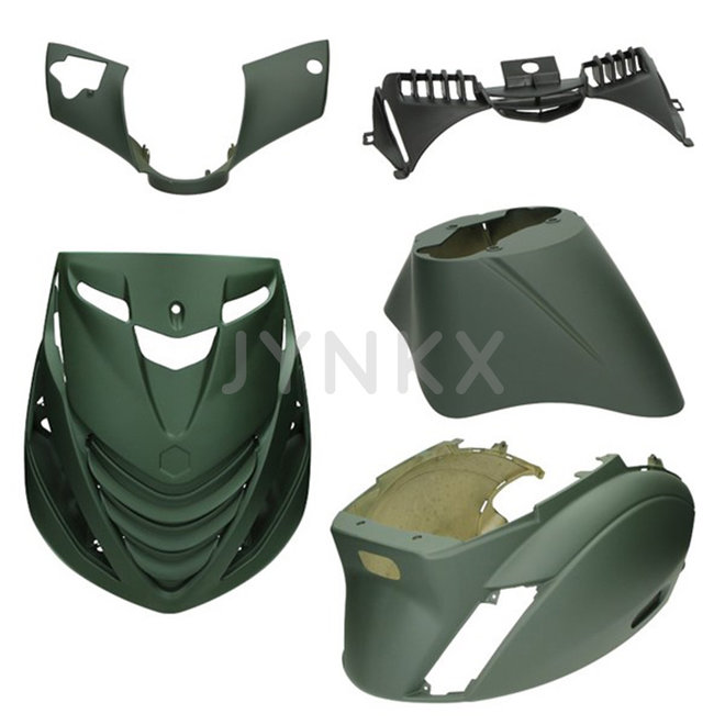 Kappenset Piaggio Zip mat army groen EVO-1 dicht 5-delig