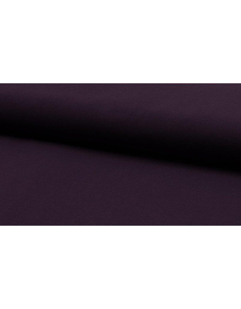 Baumwolljersey aubergine dunkellila