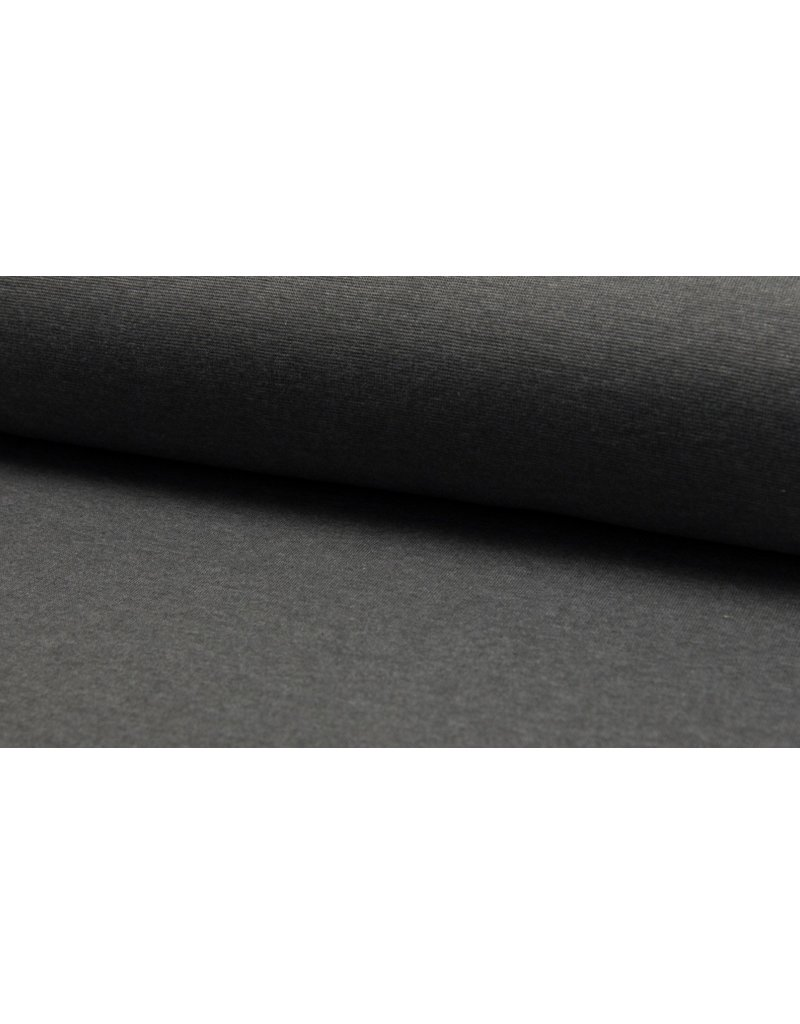 Bündchen Strickschlauch meliert dark grey