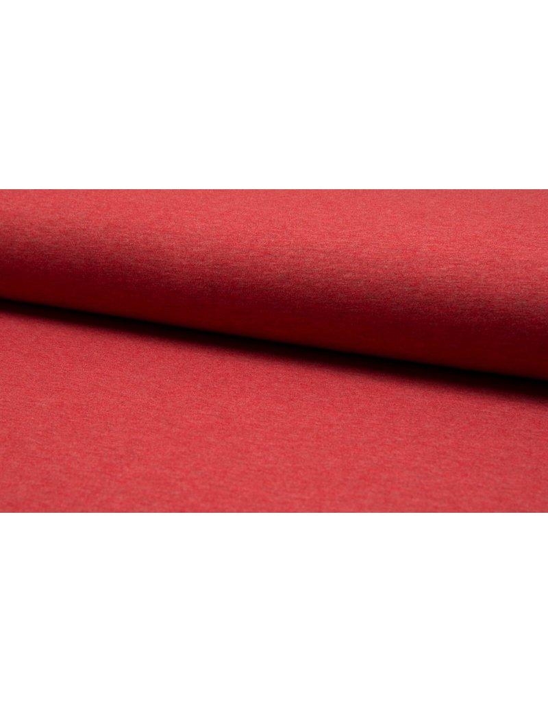 Baumwolljersey meliert red rot