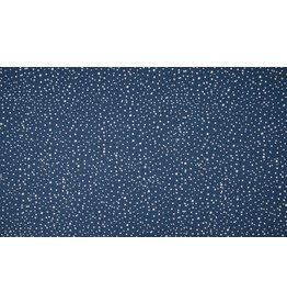 Jersey Motiv Dots navy blau