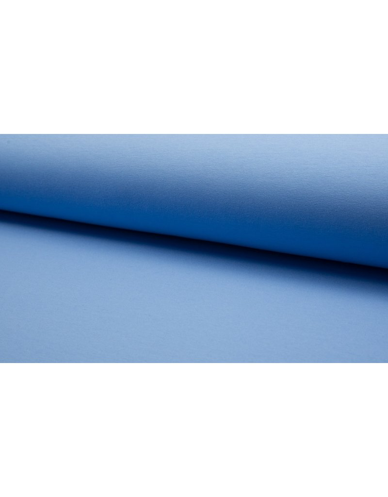 Baumwollsweat uni blue