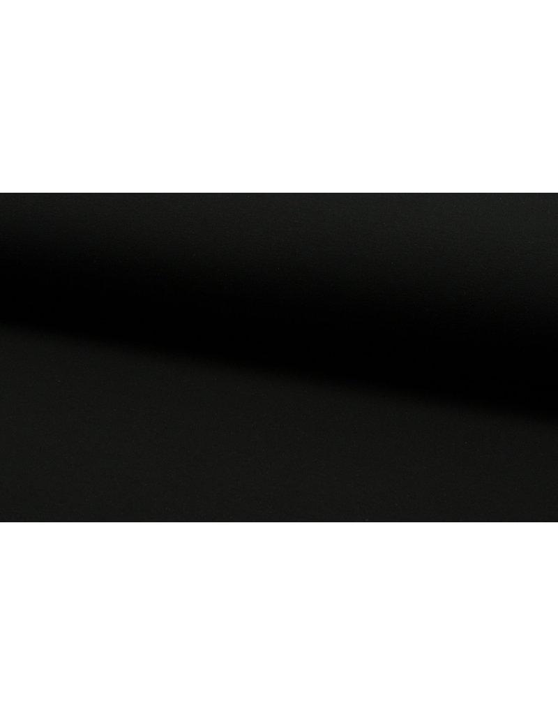Baumwollsweat uni black schwarz