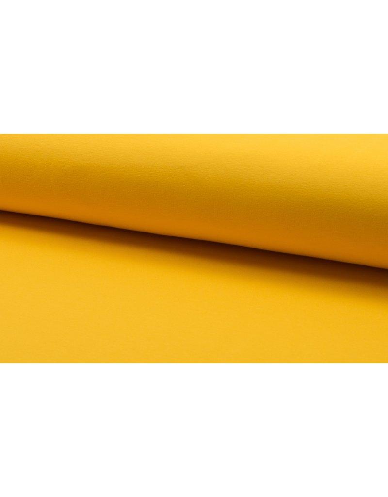 Baumwollsweat uni yellow gelb