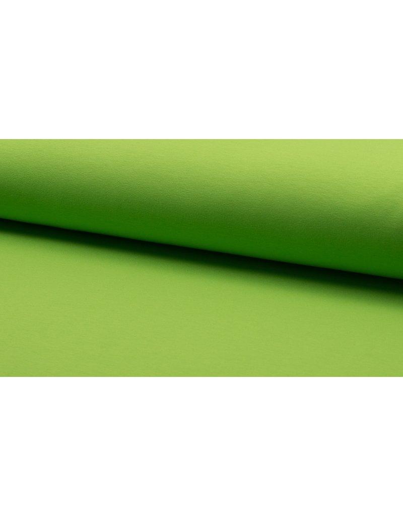 Baumwollsweat uni lime