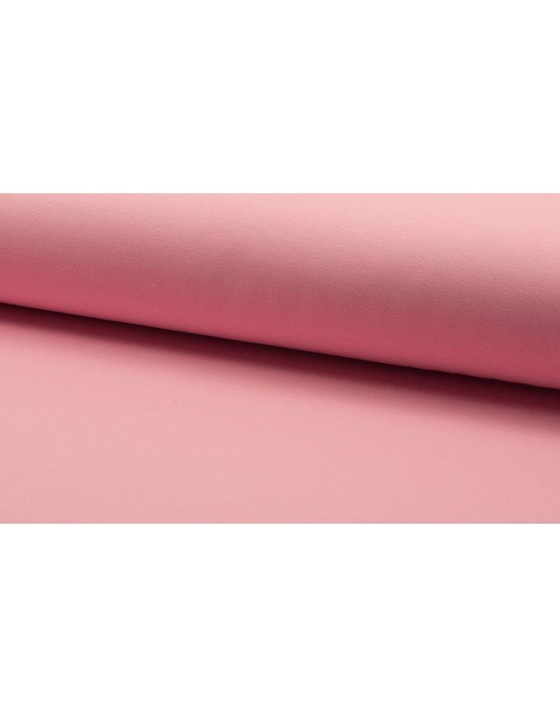 Baumwollsweat uni  rose rosa