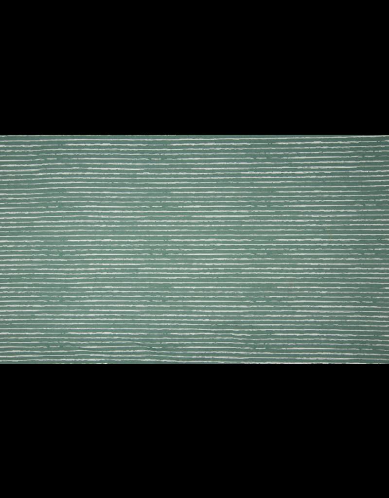 Baumwolle Motiv dusty mint Streifen weiß