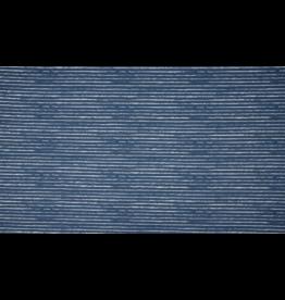 Baumwolle Motiv Streifen jeans blau weiß