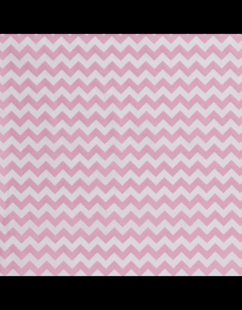 Baumwolle chevron Muster rosa hellrosa light rosa