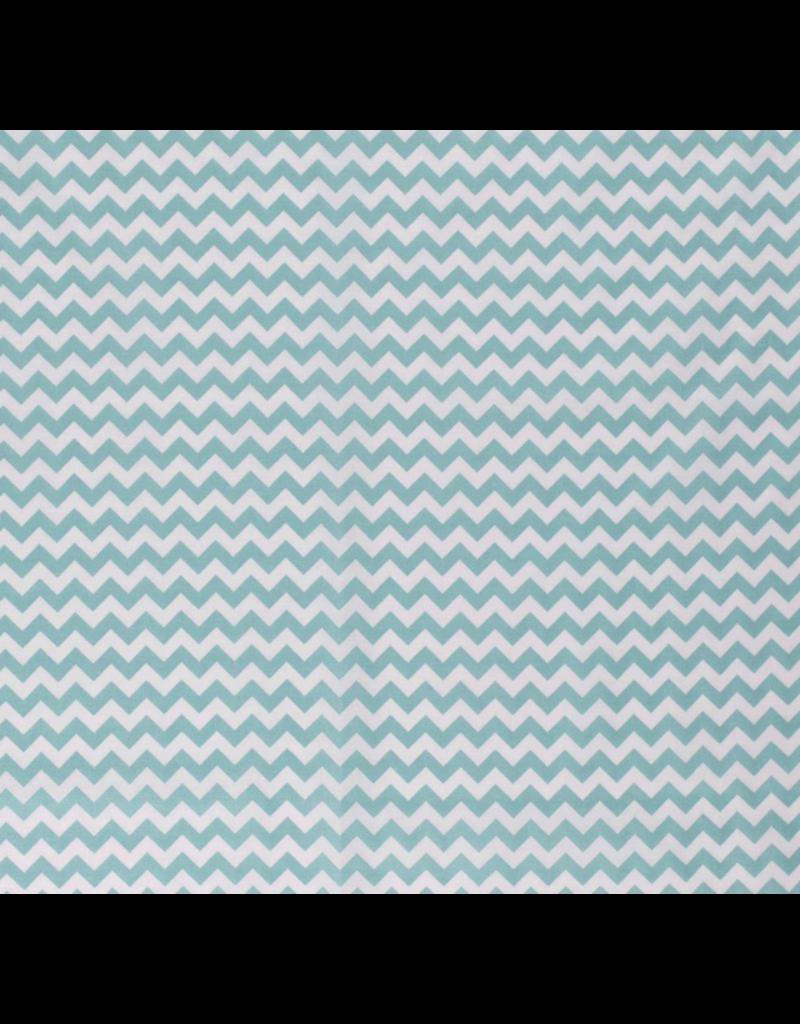 Baumwolle chevron Muster Streifen mint light mint