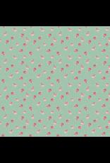 Baumwolle kleine Rosen mint