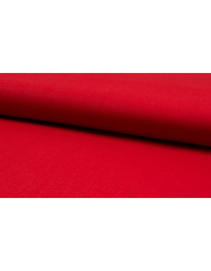 Baumwolle Uni bright red