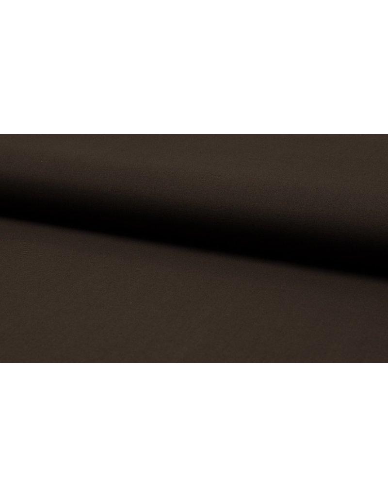 Baumwolle Uni dark brown