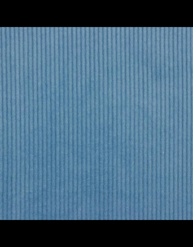 Cord rauchblau jeansblau blau