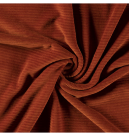 Cord dehnbar Jerseycord brique rost