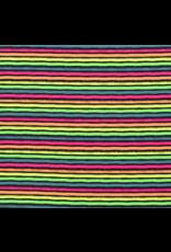 Baumwolljersey Motiv Streifen Neon bunt navy