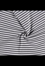 Bündchen anthrazit grau weiß Streifen Strickschlauch