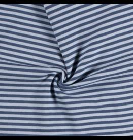 Bündchen indigo jeans hellblau Streifen Strickschlauch
