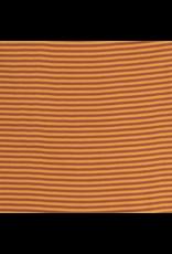 Bündchen brique rost senf  Streifen Strickschlauch