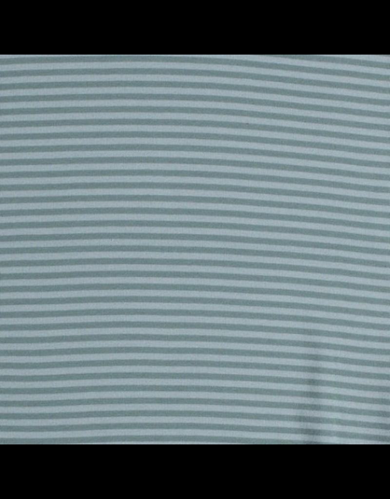 Bündchen mint dusty mint  Streifen Strickschlauch