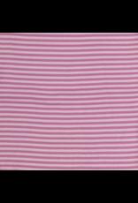 Bündchen old pink altrosa rosa Streifen Strickschlauch