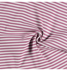 Bündchen old pink altrosa weiß Streifen Strickschlauch
