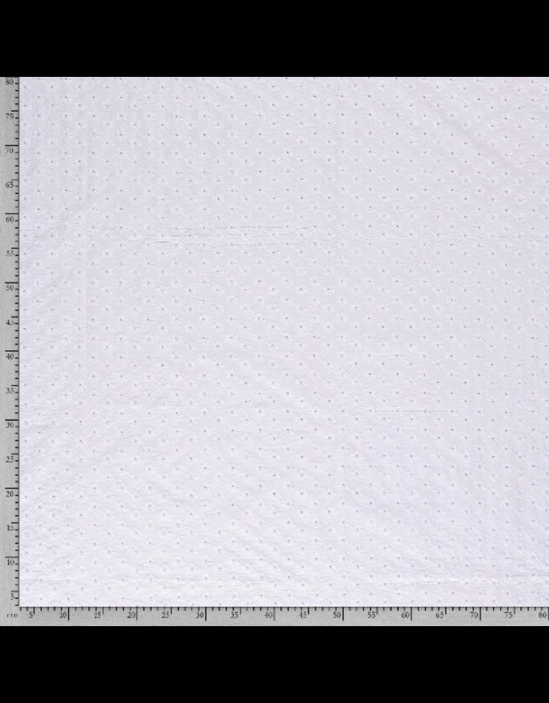 Baumwolle Spitze weiß optical white Blumen