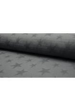 Jacquard Waffle darkgrey grau Baumwolle Sterne