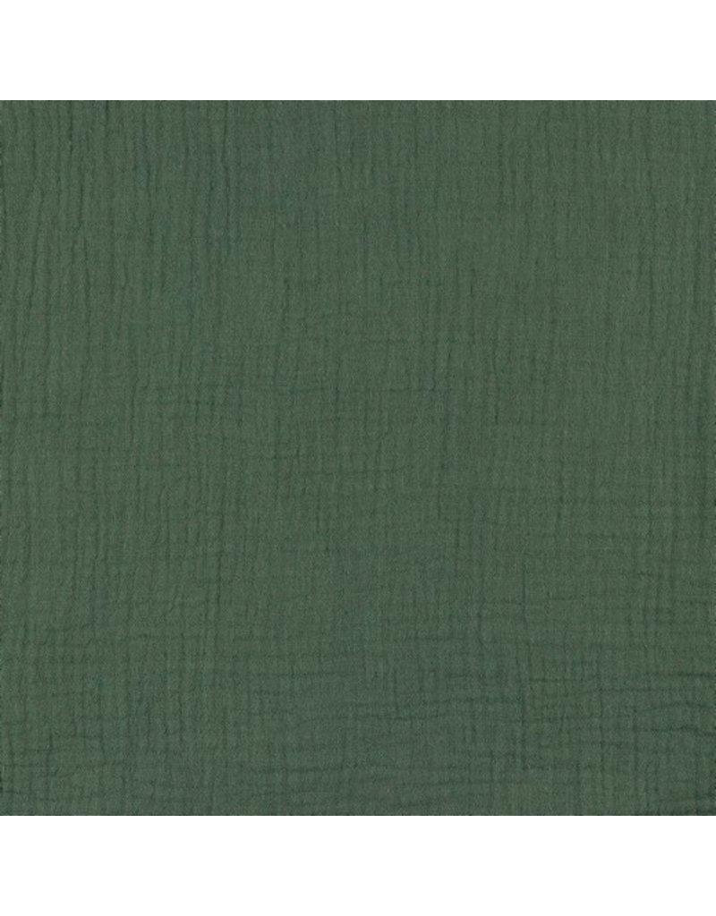Musselin Uni green Double Gauze