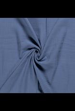 Musselin Uni indigo Double Gauze