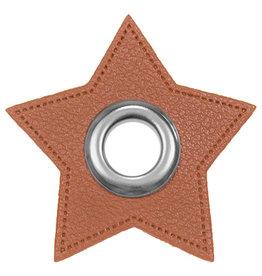 Ösen Patches für Kordeln 2er-Set Stern Lederimitat Col. 975