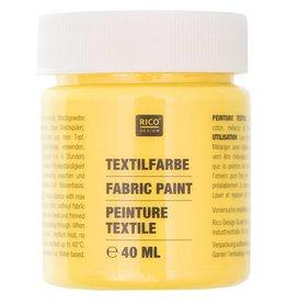RICO Textilfarbe Gelb 40 ML Col. 501