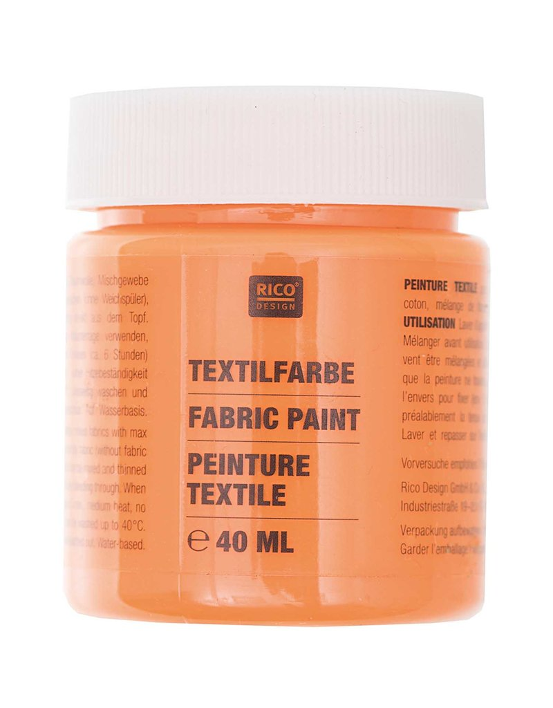 RICO Textilfarbe Orange 40 ML Col. 502