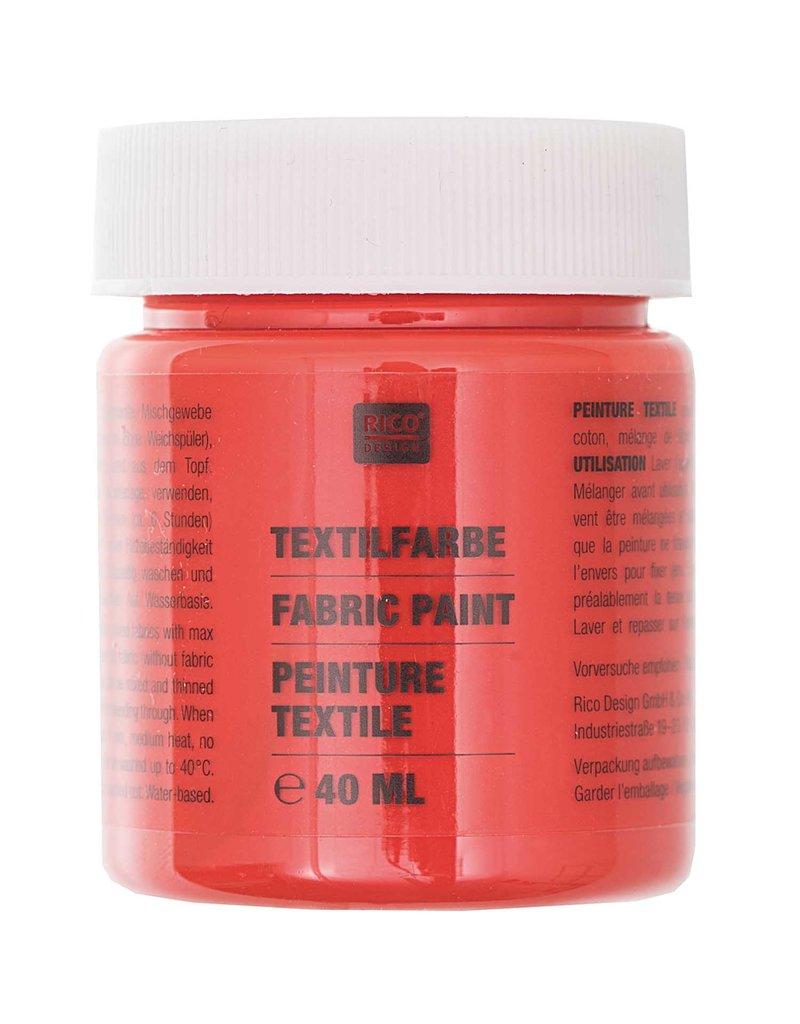 RICO Textilfarbe Brilliant Rot 40 ML Col. 503