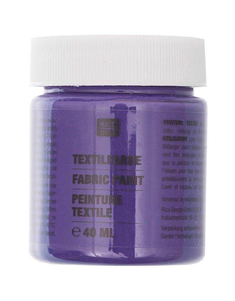 RICO Textilfarbe Violett 40 ML Col. 509