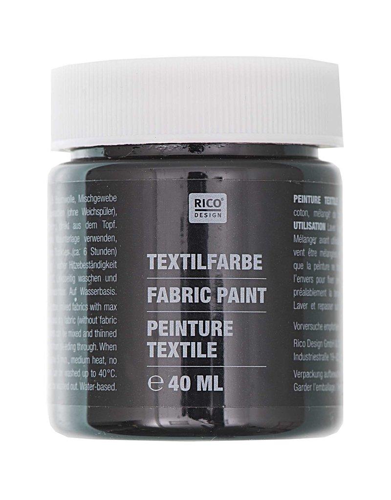 RICO Textilfarbe Schwarz 40 ML Col. 519