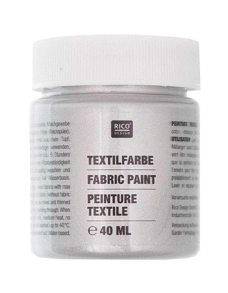 RICO Textilfarbe Silber 40 ML Col. 525