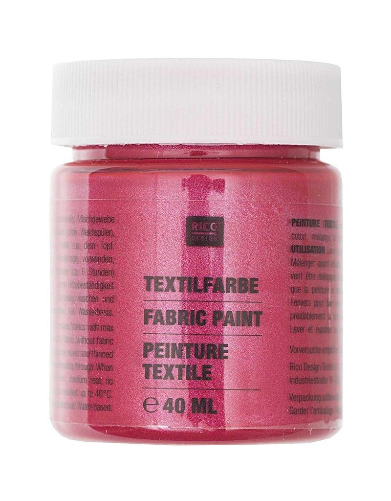 RICO Textilfarbe Granatrot Perlmutt 40 ML Col. 529