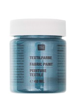 RICO Textilfarbe Petrol Perlmutt 40 ML Col. 530