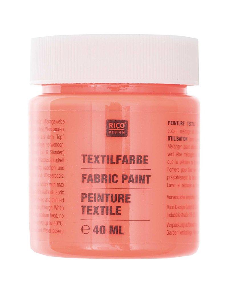 RICO Textilfarbe Neonrot 40 ML Col. 522
