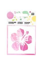 RICO Schablone klein Hibiskusblüte 7,5cm x 7,5cm Nr. 968